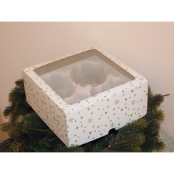 Dárková krabička na 4 koule o velikosti 8 cm