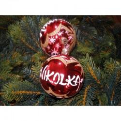 Vánoční koule C-1 s nápisem na přání