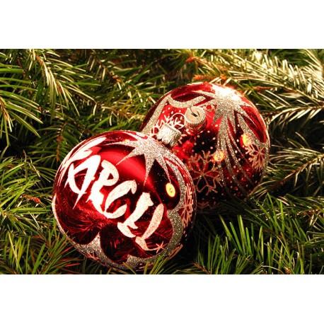 Vánoční koule C-4 s nápisem na přání