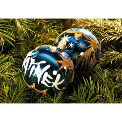 Vánoční koule B-1 s nápisem na přání
