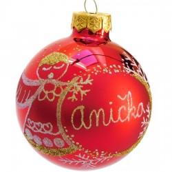 Vánoční koule I-2 s nápisem na přání