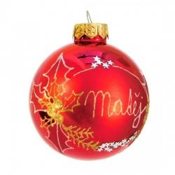 Vánoční koule I-8 s nápisem na přání