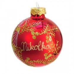 Vánoční koule I-9 s nápisem na přání