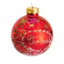 Vánoční koule I-10 s nápisem na přání