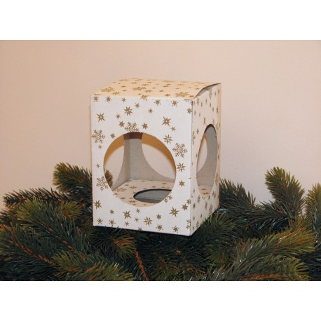 Dárková krabička na 1 kuličku o velikosti 8 cm