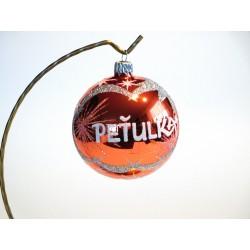 Vánoční koule K-2 s nápisem na přání