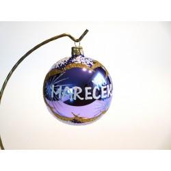 Vánoční koule E-1 s nápisem na přání