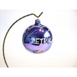 Vánoční koule E-2 s nápisem na přán