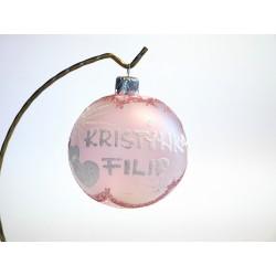Vánoční koule A-3 s nápisem na přání