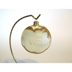 Vánoční koule A-4 s nápisem na přání