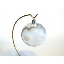 Vánoční koule A-6 s nápisem na přání