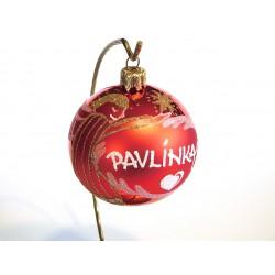 Vánoční koule I-1 s nápisem na přání