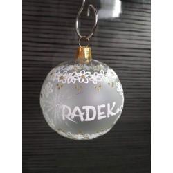 Vánoční koule A-1 s nápisem na přání