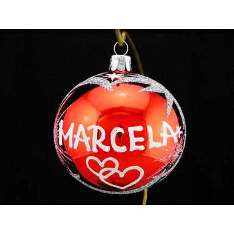Vánoční koule C-3 s nápisem na přání