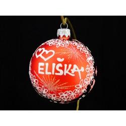 Vánoční koule C-7 s nápisem na přání