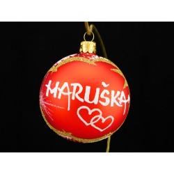 Vánoční koule U-1 s nápisem na přání