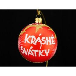 Vánoční koule U-3 s nápisem na přání