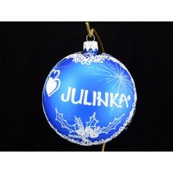Velká vánoční koule B-011-3 s nápisem na přání (vel. 10 cm)