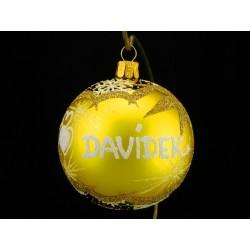 Vánoční koule G-3 s nápisem na přání
