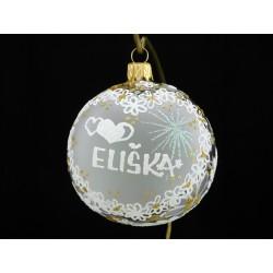 Vánoční koule A-2 s nápisem na přání