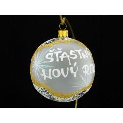 Vánoční koule A-2-2 s nápisem na přání