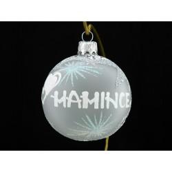 Vánoční koule A-2-3 s nápisem na přání