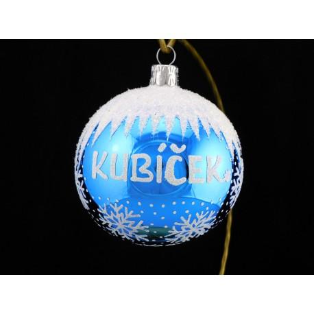 Vánoční koule B-5 s nápisem na přání
