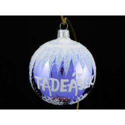 Vánoční koule E-3 s nápisem na přání
