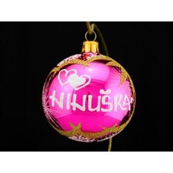 Vánoční koule Z-2 s nápisem na přání