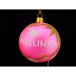 Vánoční koule W-2 s nápisem na přání