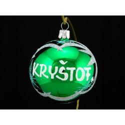 Vánoční koule J-3 s nápisem na přání