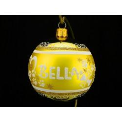 Vánoční koule K-P-G s nápisem na přání