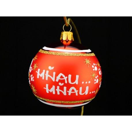 Vánoční koule K-P-C s nápisem na přání