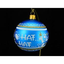 Vánoční koule K-P-B s nápisem na přání