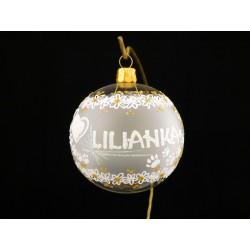 Vánoční koule K-P-A- s nápisem na přání