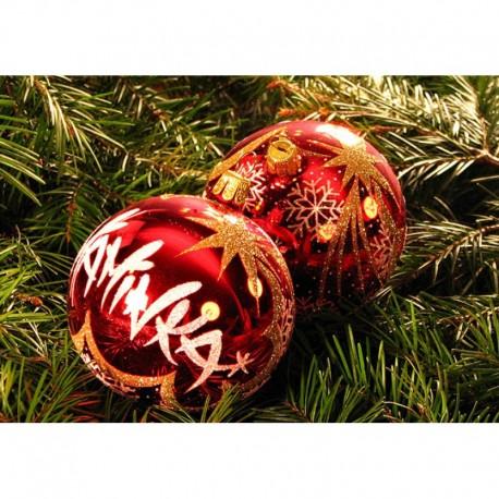 Vánoční koule C-2 s nápisem na přání