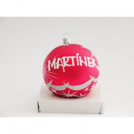 Vánoční koule U-2 s nápisem na přání
