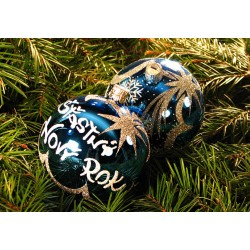 Vánoční koule B-4 s nápisem na přání