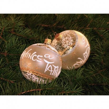 Vánoční koule A-5 s nápisem na přání