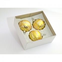 Sada kuliček na 3 kusy (zlaté sklo)