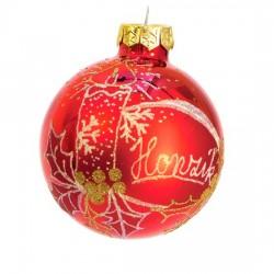 Vánoční koule I-4 s nápisem na přání