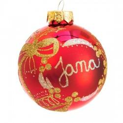 Vánoční koule I-5 s nápisem na přání