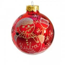 Vánoční koule I-6 s nápisem na přání