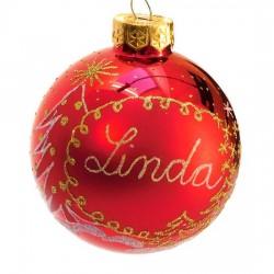 Vánoční koule I-7 s nápisem na přání