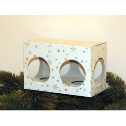 Dárková krabička na 2 koule o velikosti 8 cm