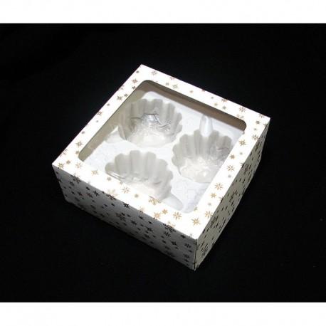 Dárková krabička na 3 koule o velikosti 8 cm